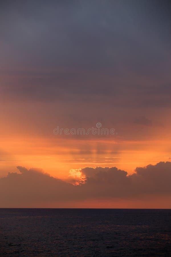 Zonsondergang in Keauhou Hawaï stock foto