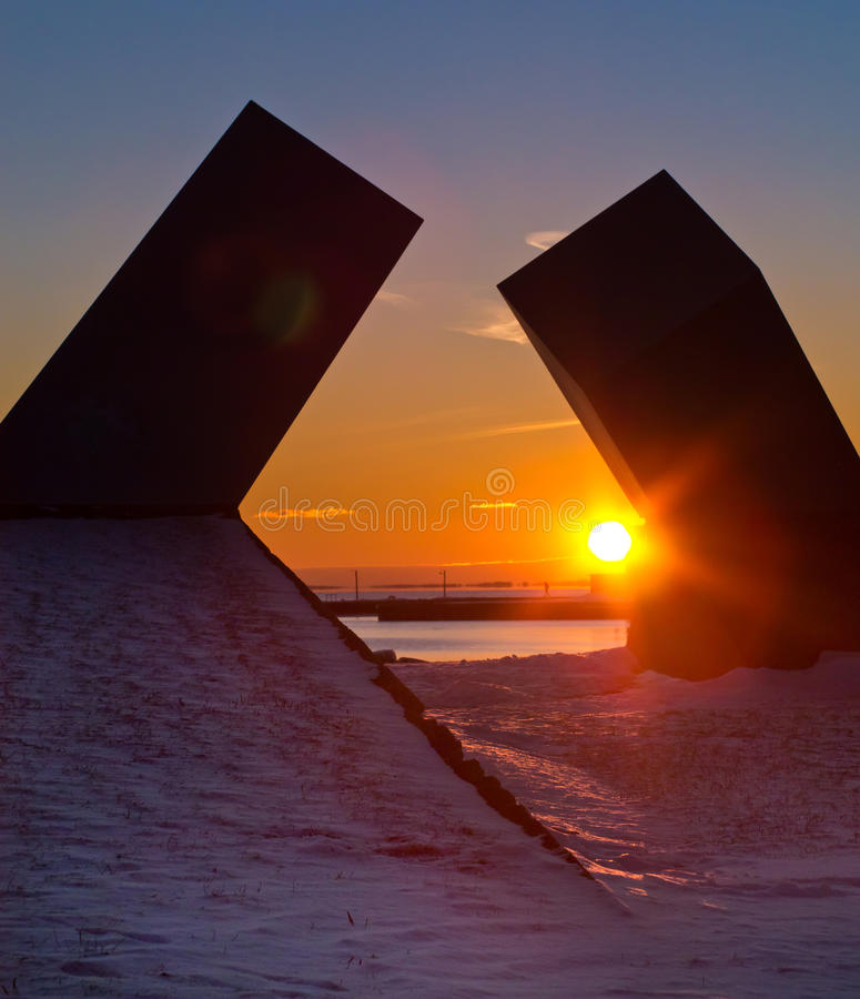 Zonsondergang in Kingston, Ontario, Canada royalty-vrije stock foto's