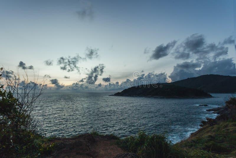 Zonsondergang in Laem Phrom Thep, Phromthep-Kaap royalty-vrije stock foto