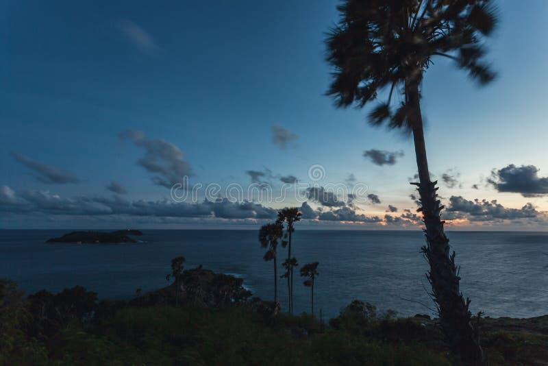 Zonsondergang in Laem Phrom Thep, Phromthep-Kaap royalty-vrije stock afbeeldingen