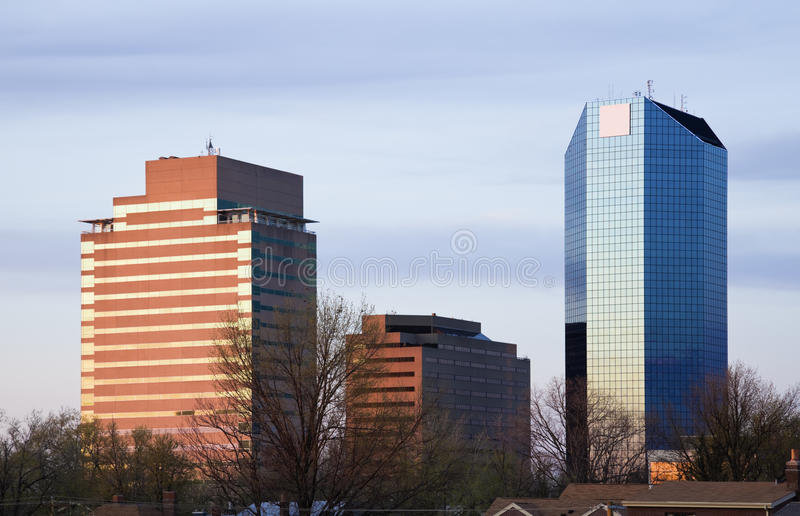 Zonsondergang in Lexington stock foto