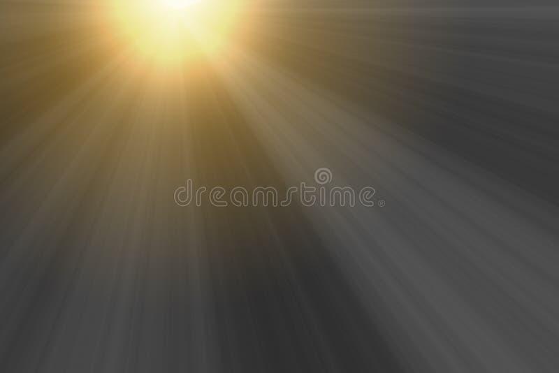 Zonsondergang lichtgevende stralen voor bekledingsontwerp royalty-vrije stock afbeeldingen