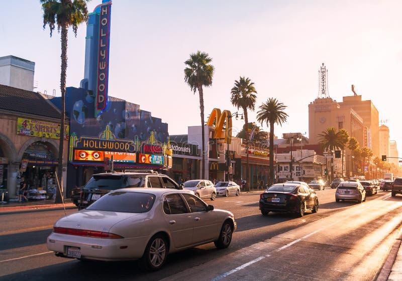 Zonsondergang in Los Angeles, de V.S. royalty-vrije stock foto's