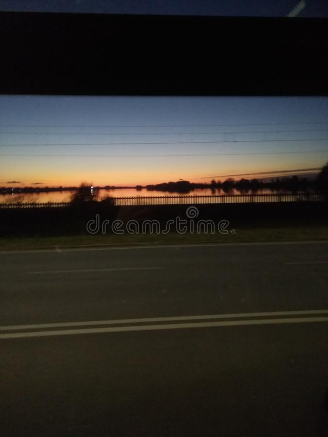 Zonsondergang in Mantua Italië stock fotografie