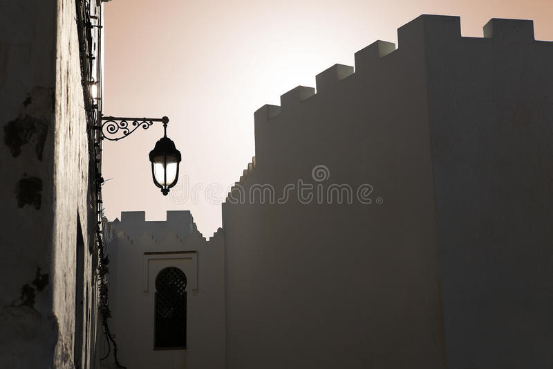 Zonsondergang in Marokko royalty-vrije stock afbeeldingen