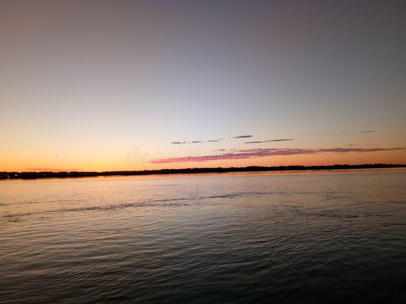 Zonsondergang in Maryland royalty-vrije stock afbeelding