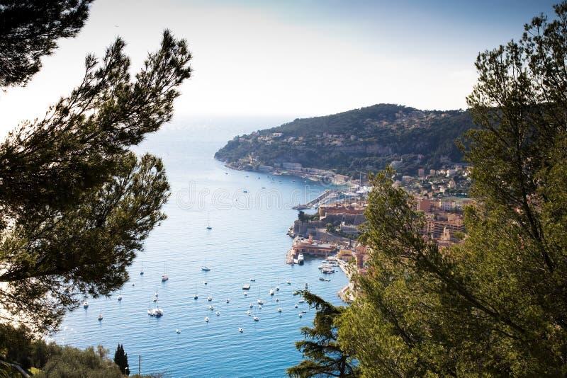 Zonsondergang in Mediterrane Toevlucht royalty-vrije stock afbeeldingen