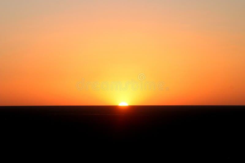 Zonsondergang in Mingsha Shan royalty-vrije stock afbeelding