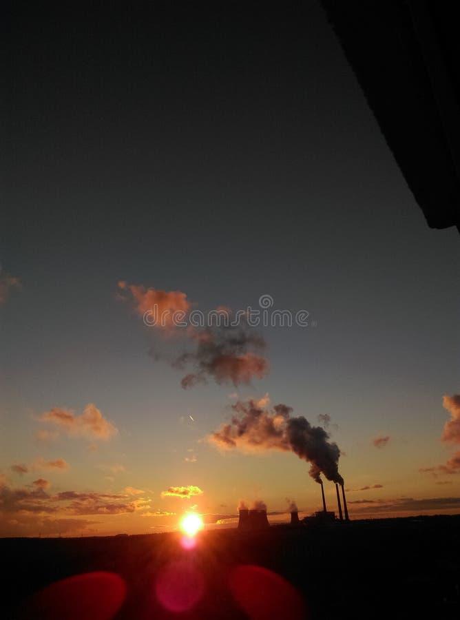 Zonsondergang in Minsk royalty-vrije stock foto
