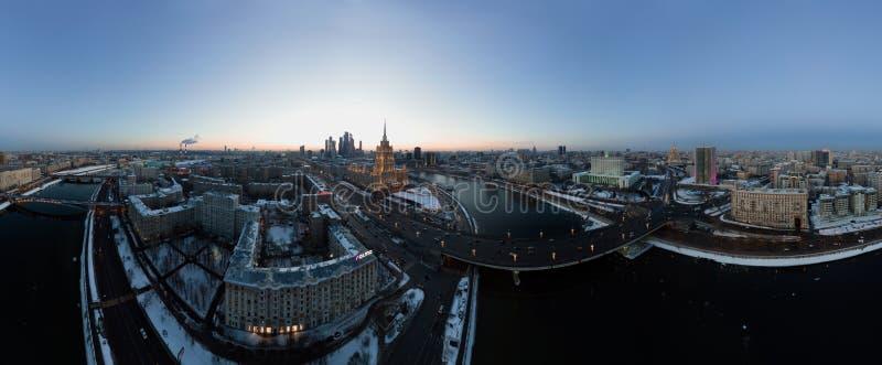 Zonsondergang in Moskou royalty-vrije stock fotografie