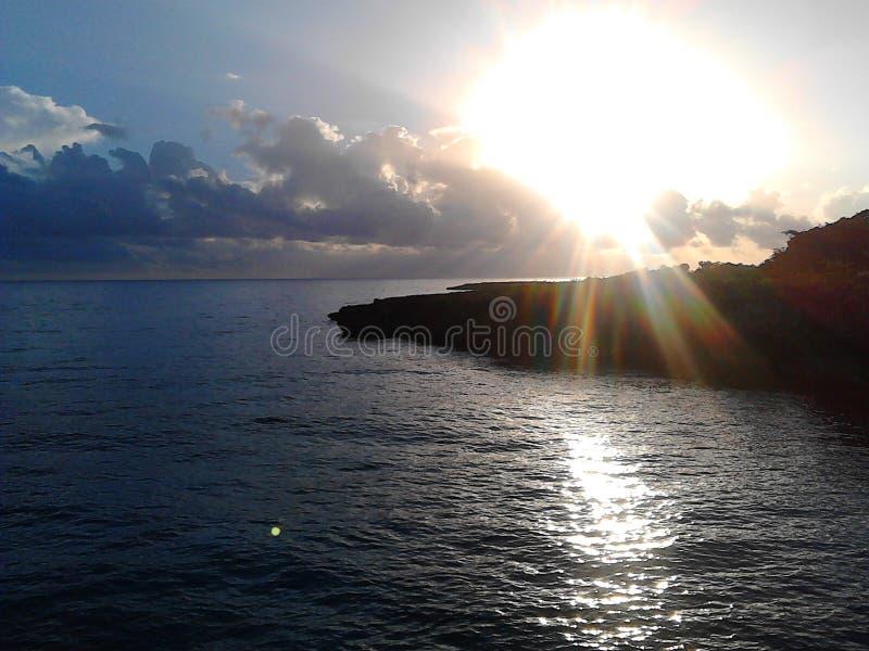 Zonsondergang oceaanmening royalty-vrije stock fotografie