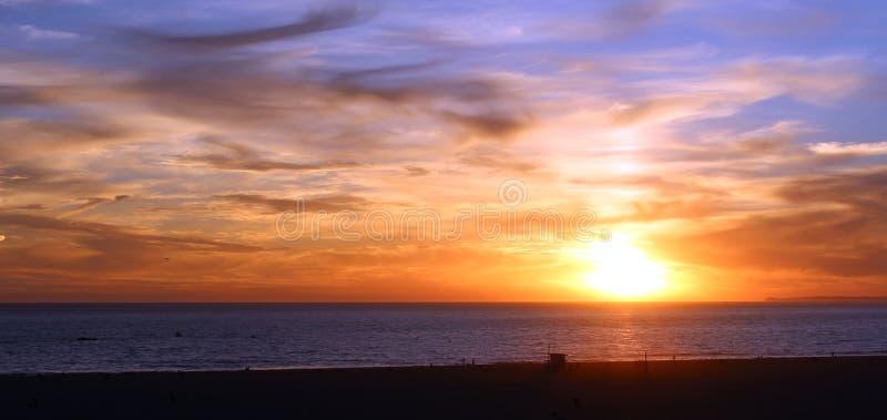 Zonsondergang in oceaanstad, Maryland, de V.S. royalty-vrije stock fotografie