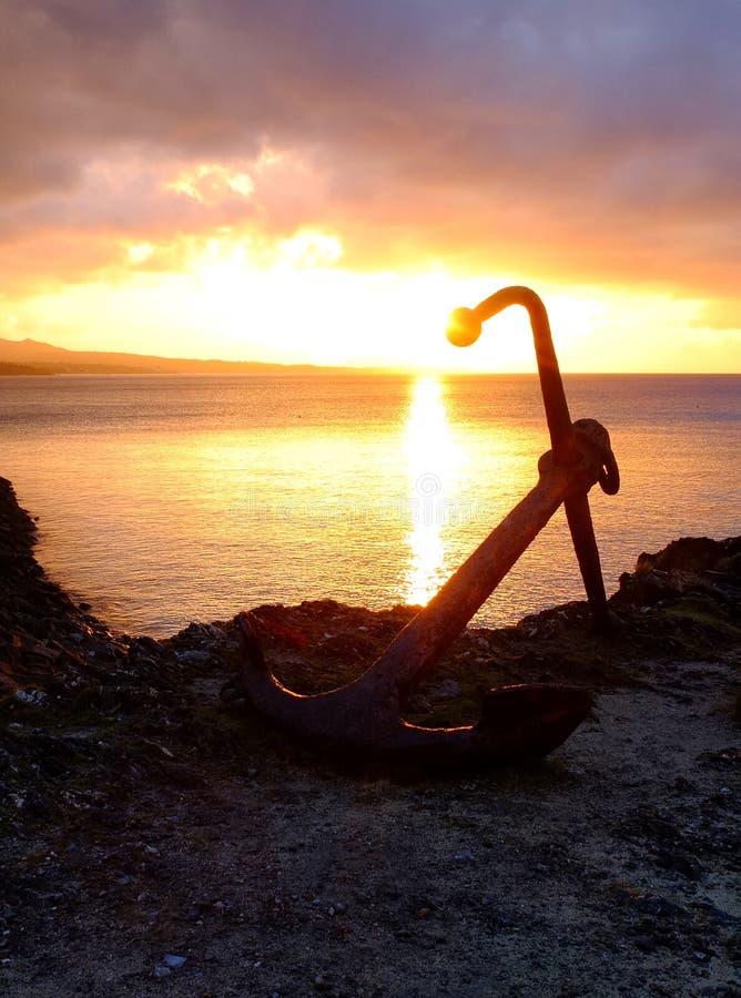 Zonsondergang in Okinawa Cape Busena royalty-vrije stock afbeelding