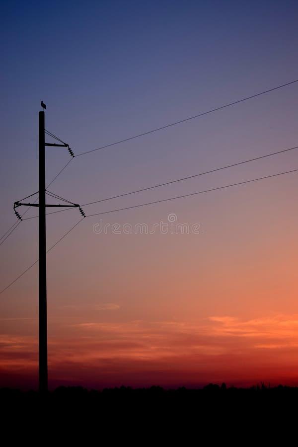 Zonsondergang op de rand van de wereld stock foto