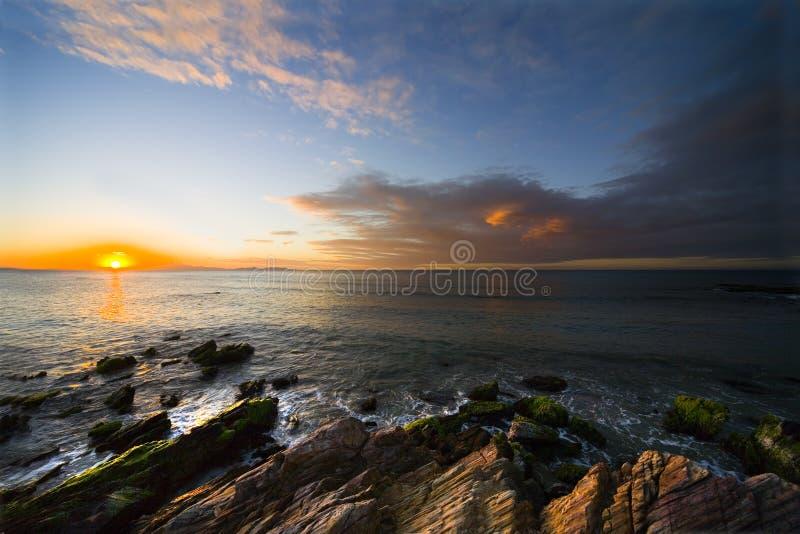 Zonsondergang op eiland Margarita royalty-vrije stock afbeeldingen