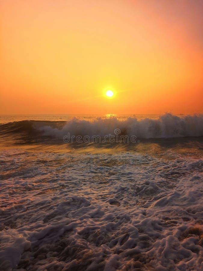 Zonsondergang op GOA royalty-vrije stock fotografie