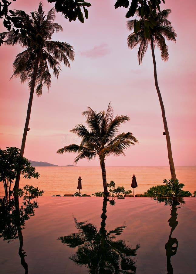 Zonsondergang op Koh Samui stock afbeeldingen