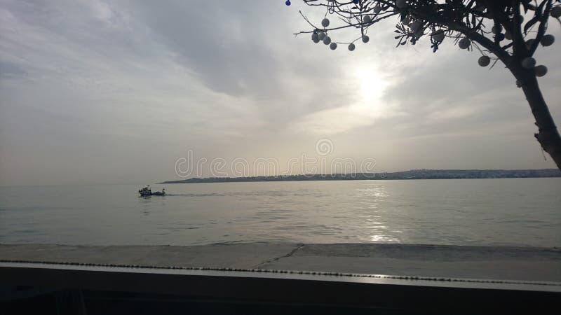 Zonsondergang op Overzees royalty-vrije stock foto's
