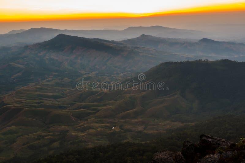 Zonsondergang op Siërra stock foto's