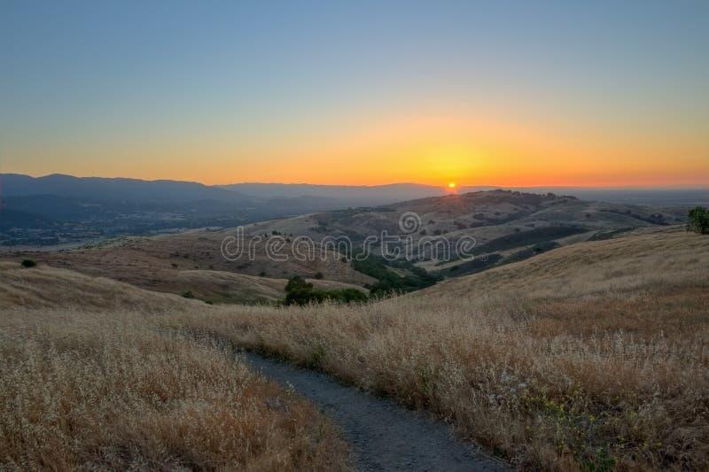 Zonsondergang op Silicon Valley stock fotografie