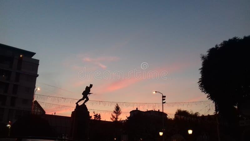 zonsondergang opnieuw royalty-vrije stock foto's