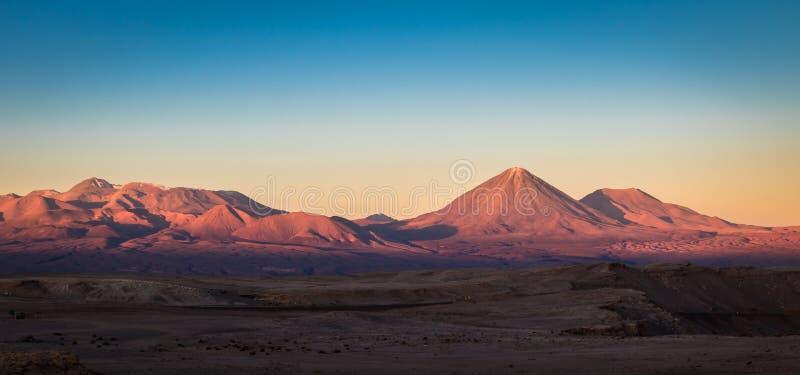 Zonsondergang over Atacama-Woestijn royalty-vrije stock afbeeldingen