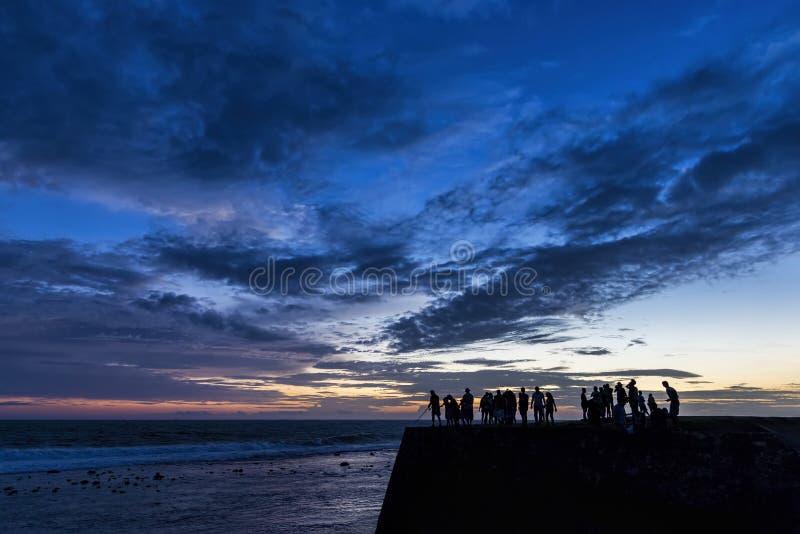 Zonsondergang over Galle-fort, Sri Lanka royalty-vrije stock afbeelding