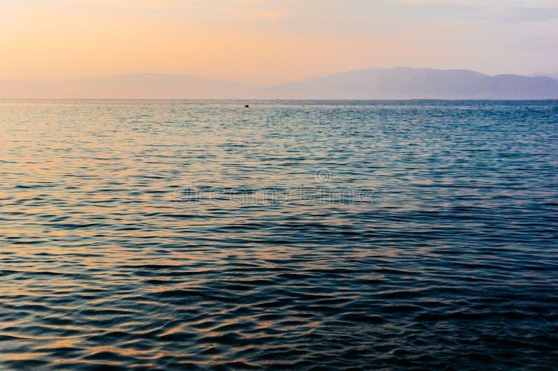 Zonsondergang over horizon royalty-vrije stock foto's