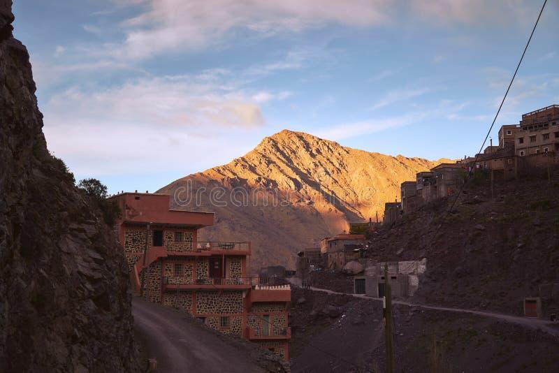 Zonsondergang over Imlil stock fotografie
