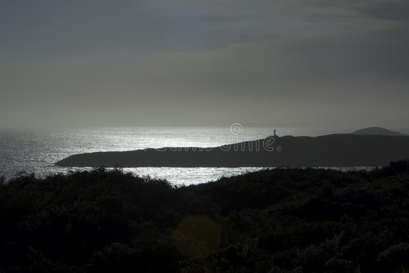Zonsondergang over kust dichtbij Albany, WA, Australië royalty-vrije stock afbeeldingen