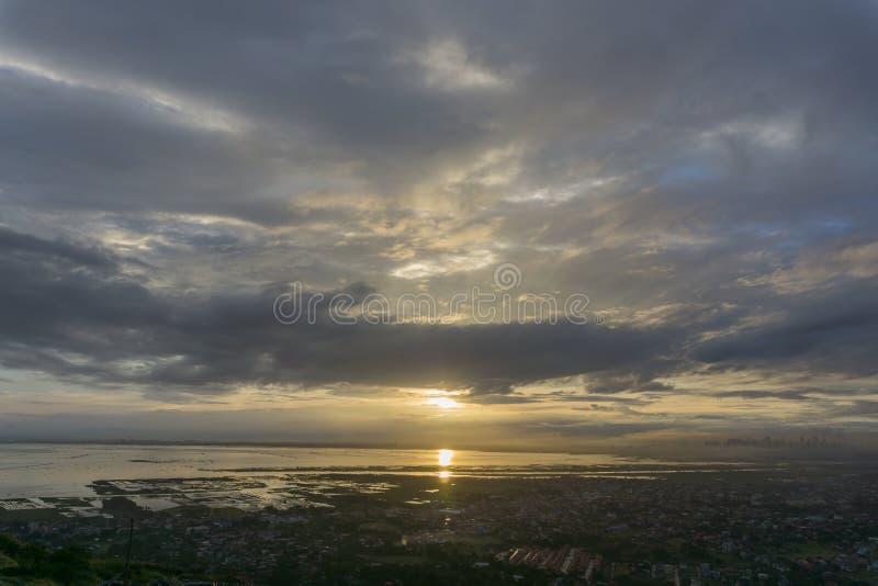 Zonsondergang over Manilla royalty-vrije stock fotografie