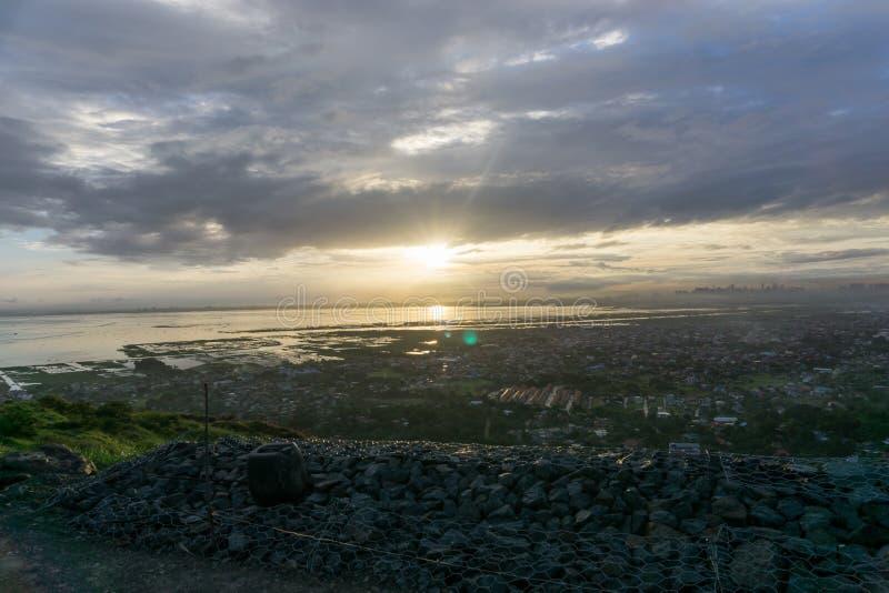 Zonsondergang over Manilla stock foto
