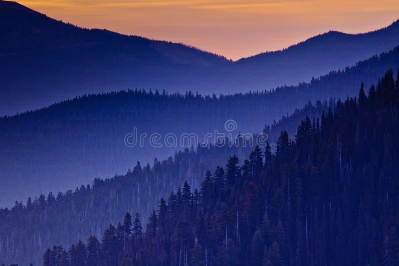 Zonsondergang over Orkaanrand, Olympisch Nationaal Park, Washington State, de V.S. royalty-vrije stock foto