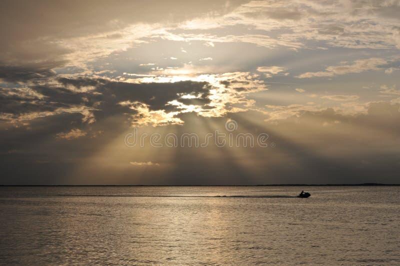 Zonsondergang over Zeer belangrijke Largo royalty-vrije stock afbeeldingen