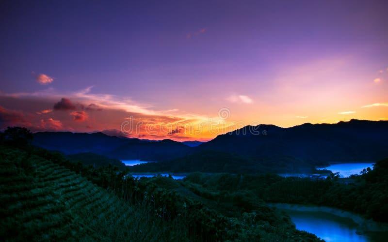 Zonsondergang in paradijs royalty-vrije stock foto's