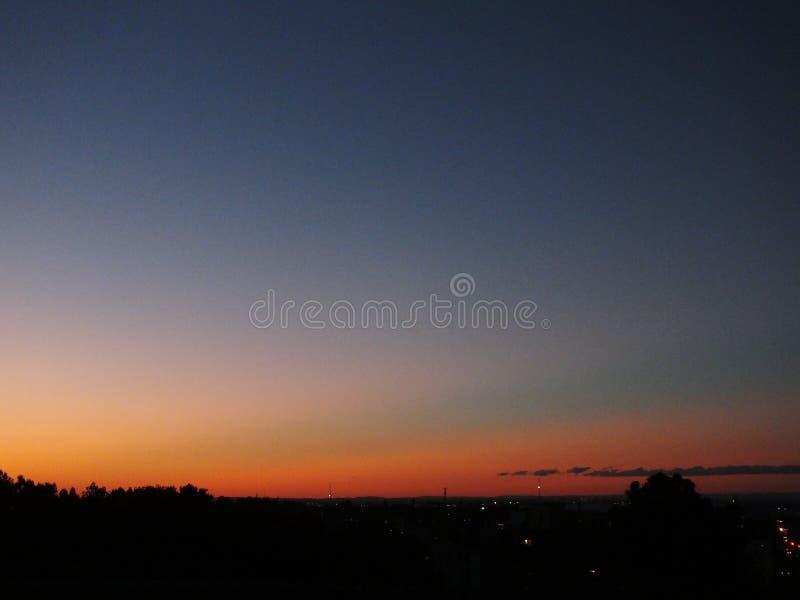 Zonsondergang in Porto Alegre, Brazilië stock afbeeldingen