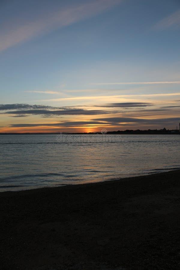 Zonsondergang in Portsmouth het UK royalty-vrije stock fotografie