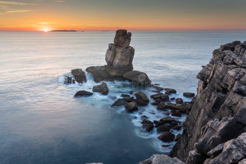 Zonsondergang in Portugal royalty-vrije stock foto