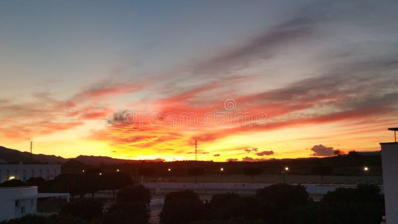 Zonsondergang puesta DE sol royalty-vrije stock foto's