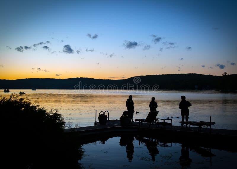 Zonsondergang in Québec, Canada royalty-vrije stock foto's
