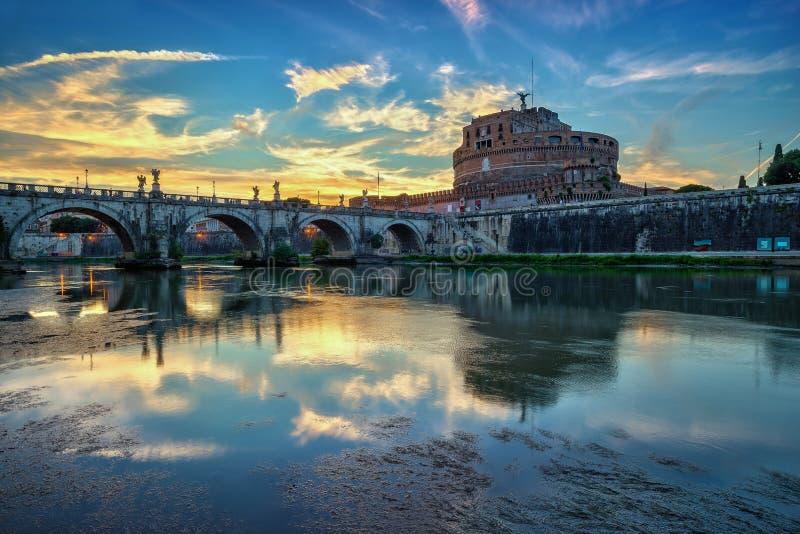 Zonsondergang in Rome - Italië royalty-vrije stock afbeeldingen