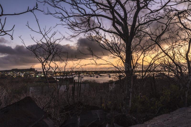 Zonsondergang in San Cristobal royalty-vrije stock fotografie