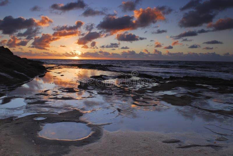 Zonsondergang in San Diego stock afbeelding
