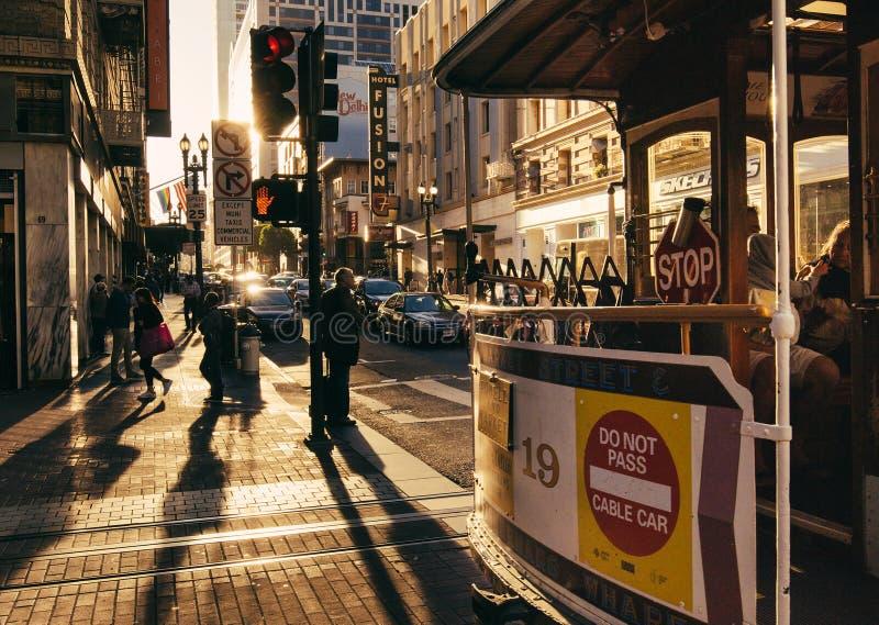 Zonsondergang in San Francisco stock fotografie