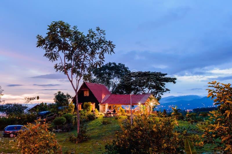 Zonsondergang in Santa Elena stock foto