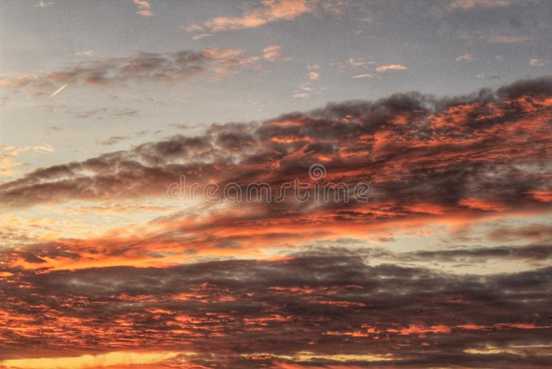 Zonsondergang in Santa Pola royalty-vrije stock foto's