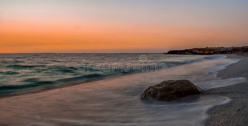 Zonsondergang in Sardinige stock foto's
