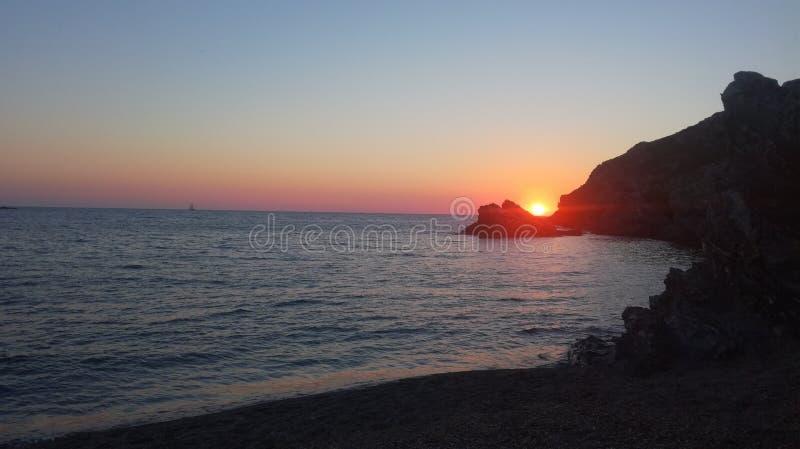 Zonsondergang in Sardinige royalty-vrije stock afbeeldingen