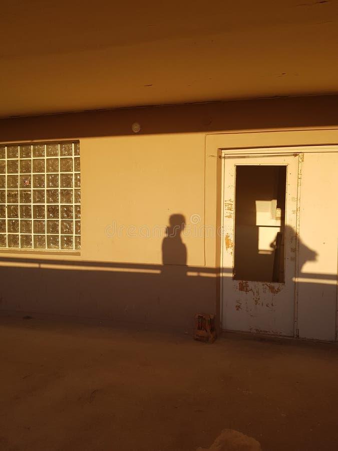 Zonsondergang schaduwen esthetisch stock afbeeldingen