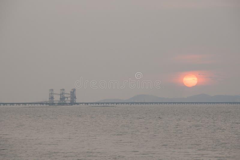 Zonsondergang seaview stock foto's